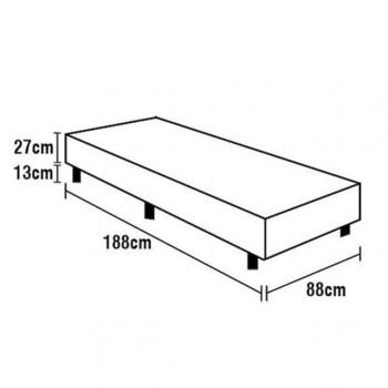 Base Box de Solteiro Tecido Preto 2300