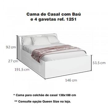 Dormitório De Casal Completo 1223 Carvalho Claro