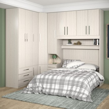 Dormitório Queen Size Completo 1218 Carvalho Claro
