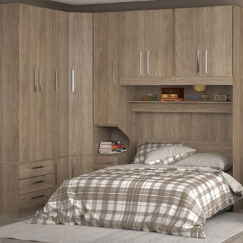Dormitório De Casal Completo 1218 Castanho