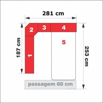 Dormitório Queen Size Completo 1218 Branco
