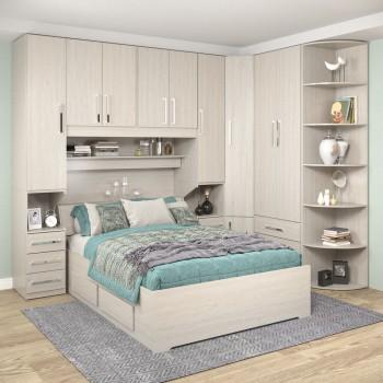 Dormitório De Casal Sem Cama 1219S Carvalho Claro