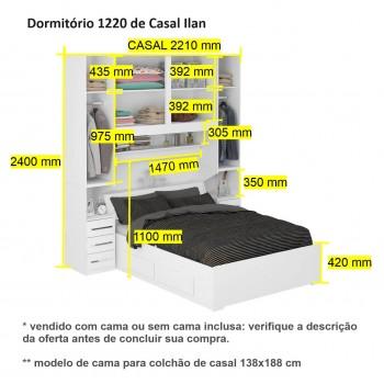 Dormitório De Casal Sem Cama 1220S Noce Málaga