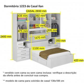 Dormitório De Casal Completo 1223 Branco