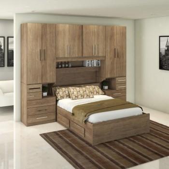 Dormitório De Casal Completo 1223 Castanho