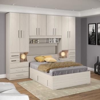 Dormitório De Casal Sem Cama 1223S Carvalho Claro