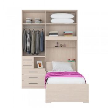 Dormitório De Solteiro 1225 Carvalho Claro