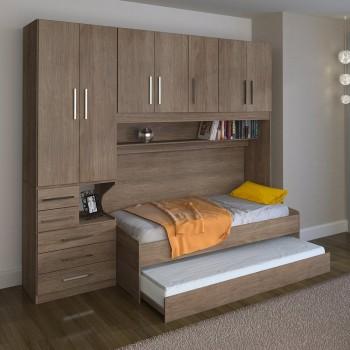 Dormitório De Solteiro Transversal 1326 Esquerdo Castanho