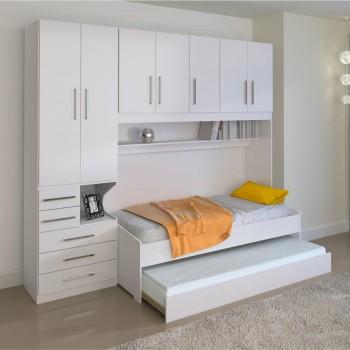 Dormitório De Solteiro Transversal 1326 Branco