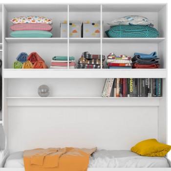 Dormitório De Solteiro Transversal 1326 Direito Branco