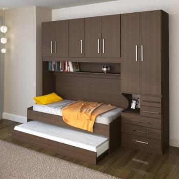 Dormitório De Solteiro Transversal 1326 Direito Noce Málaga