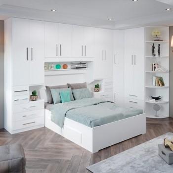 Dormitório De Casal Completo 1344 Branco