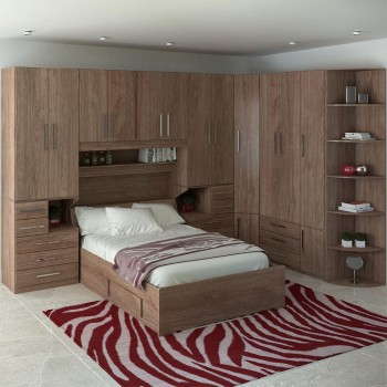 Dormitório De Casal Completo 1222 Castanho