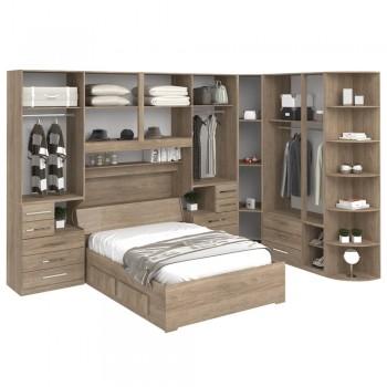 Dormitório De Casal Sem Cama 1222S Castanho