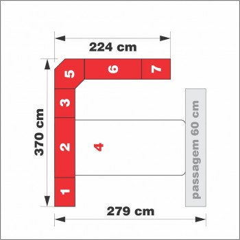 Dormitório De Casal Completo 1222 Carvalho Claro