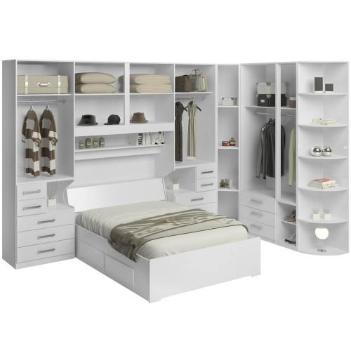 12c1d887c5 Dormitório De Casal Sem Cama 1222S Branco