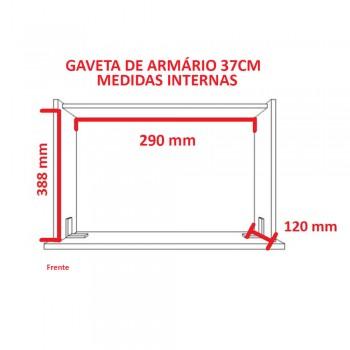 Guarda-Roupa De 1 Porta Com Mesa de Cabeceira 1416 Direito Noce Málaga
