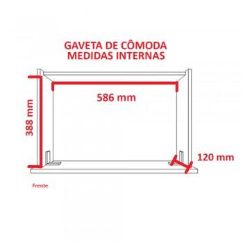 Cômoda Big Multiuso 1201 Ilan Castanho