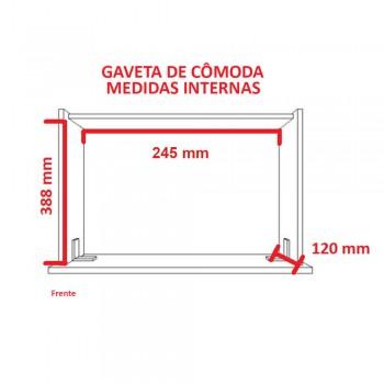 Minicômoda 6 Gavetas 1343 Ilan Carvalho Claro