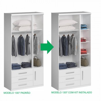 Kit Fechamento Com 2 Prateleiras Noce Málaga