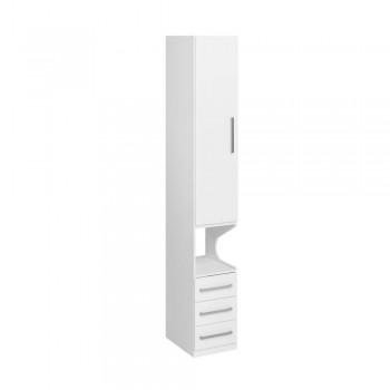 Guarda-Roupa De 1 Porta Com Mesa de Cabeceira 1416 Esquerdo Branco