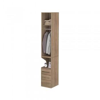 Guarda-Roupa De 1 Porta Com Mesa de Cabeceira 1416 Direito Castanho