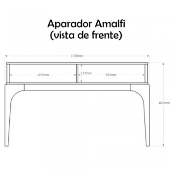 Aparador Amalfi Off White/Madero Noce