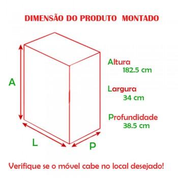 Armário Elegance 1 Porta 1402 Ilan Carvalho Claro