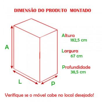 Multiuso Elegance 2 Portas 1305 Ilan Carvalho Claro